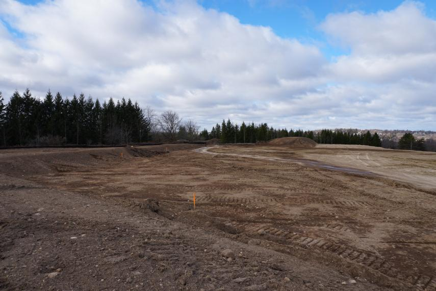 Photo of research plot construction for the new GTI