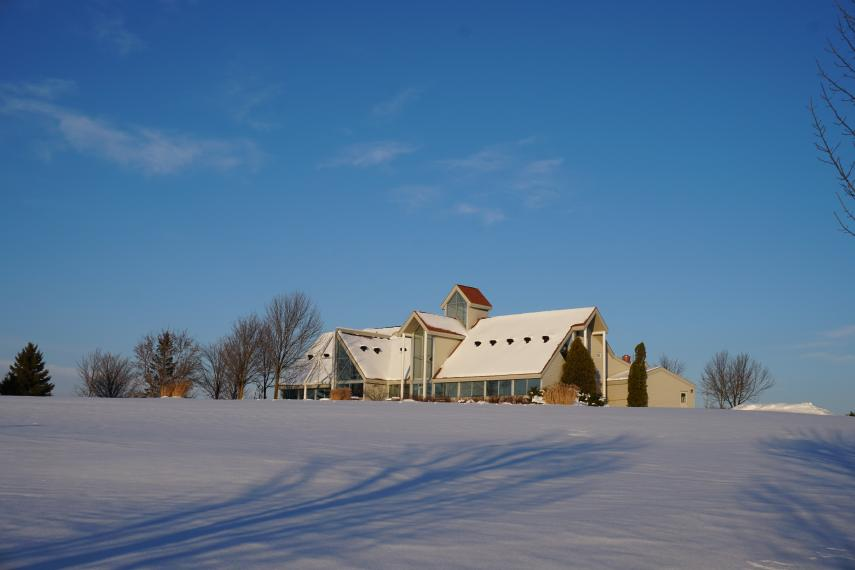 Photo of Frost Centre in snow