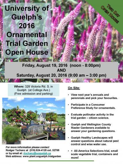 Trial Garden Open House Flyer