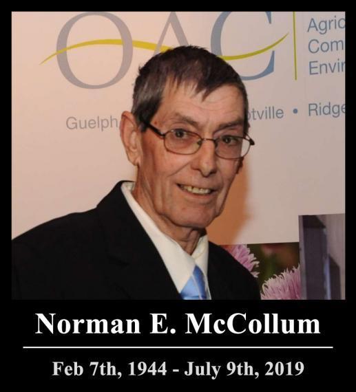 Norman E. MCCollum .    Feb 7th, 1944 - July 9th, 2019