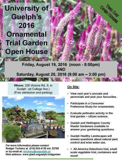 Trial Garden Open House Flyer